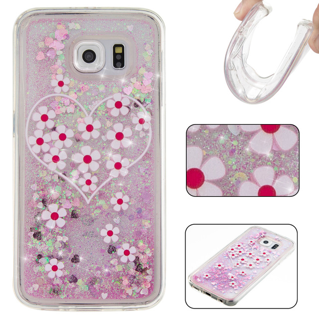 coque transparente liquide 360 galaxy s6 edge