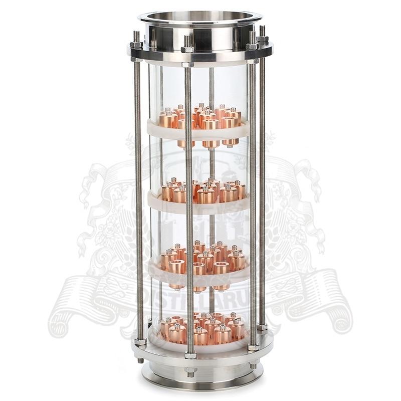 6,5 Tri clamp OD 183 Glass column for distillation. 8 tri clamp od 217 glass column for distillation
