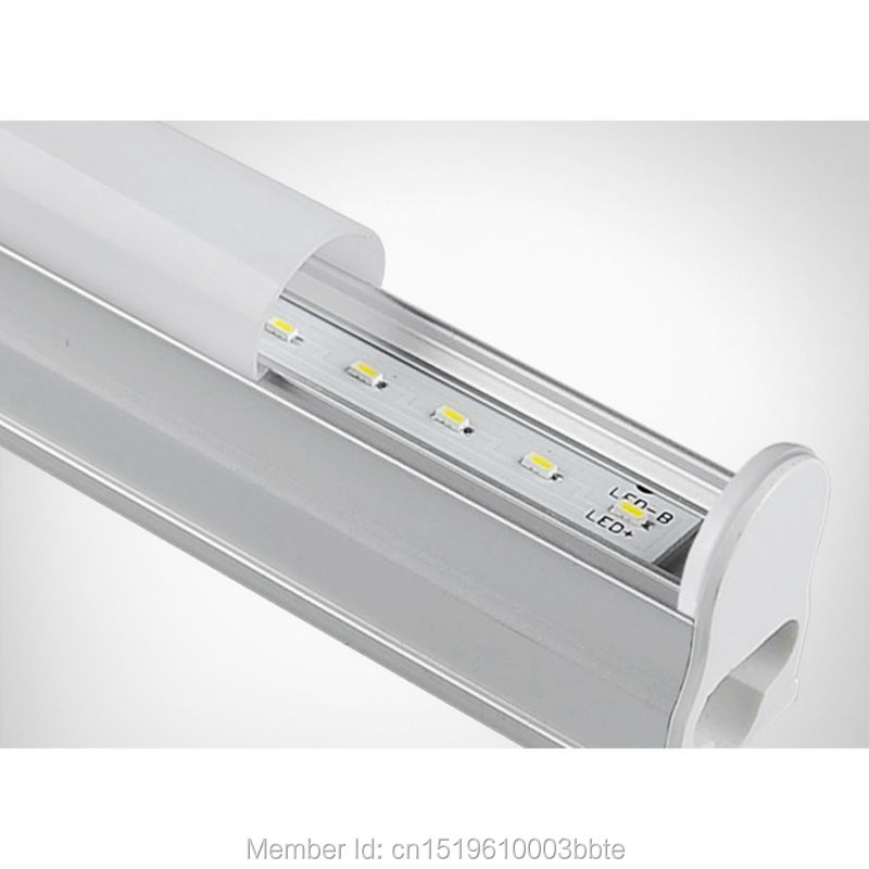 Купить с кэшбэком 60PCS Super Bright Warranty 3 Years 600mm 900mm 1200mm 1500mm LED Tube T5 2ft 3ft 4ft 5ft Bulb Lights Fluorescent Lamp Daylight