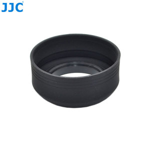 Image 5 - JJC Universal 3 in 1 Collapsible Silicone Lens Hood 46mm 49mm 52mm 55mm 58mm 62mm 67mm 72mm 77mm  Camera Lens Protector
