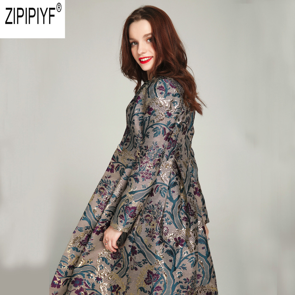 2018 Plus Size New Autumn Winter Luxury Long Trench Coats For Women O Neck Long Sleeve