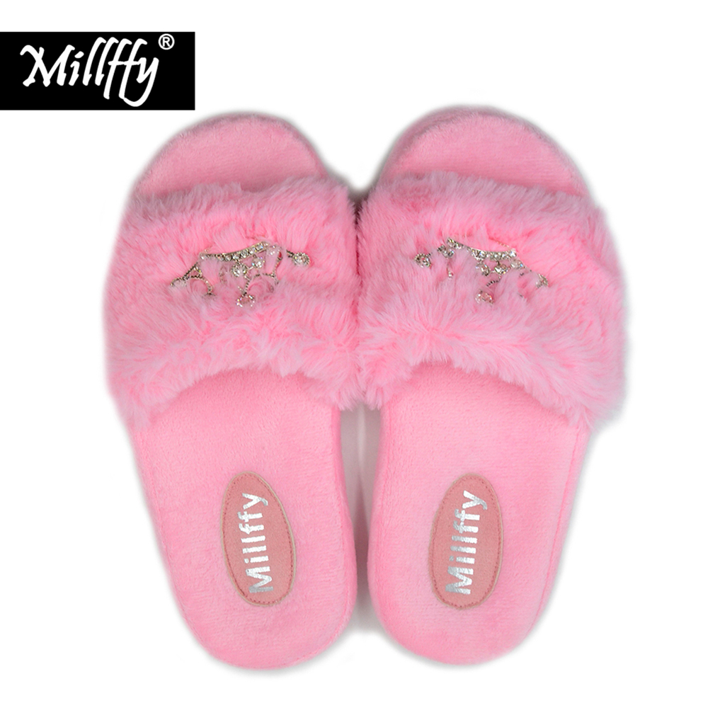 Zoete Ergonomie Pv Pluche Kroon Slippers Prinses Millffy Massage 54LqR3Aj
