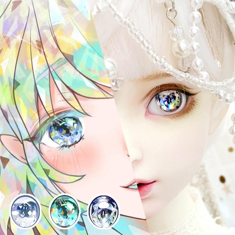 BJD Eyes 14mm 10mm-22mm Eyes Beautiful Cartoon Eyes For 1/8 1/6 1/4 1/3 BJD SD DD Sparkling Phosphor Eyes Doll Accessories