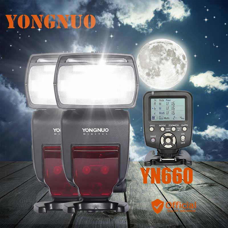 2pcs YONGNUO YN660 Wireless Flash Speedlite GN66 2.4G HSS 1/8000s+Trigger for Canon eos 1d 6d mark ii iii iv 7d 60d 50d 40d 1ds yongnuo yn568ex iii wireless ttl sync 1 8000s hss flash speedlite for canon 1dx 1ds 5d mark iii iv 70d 80d 7d 6d 700d 750d