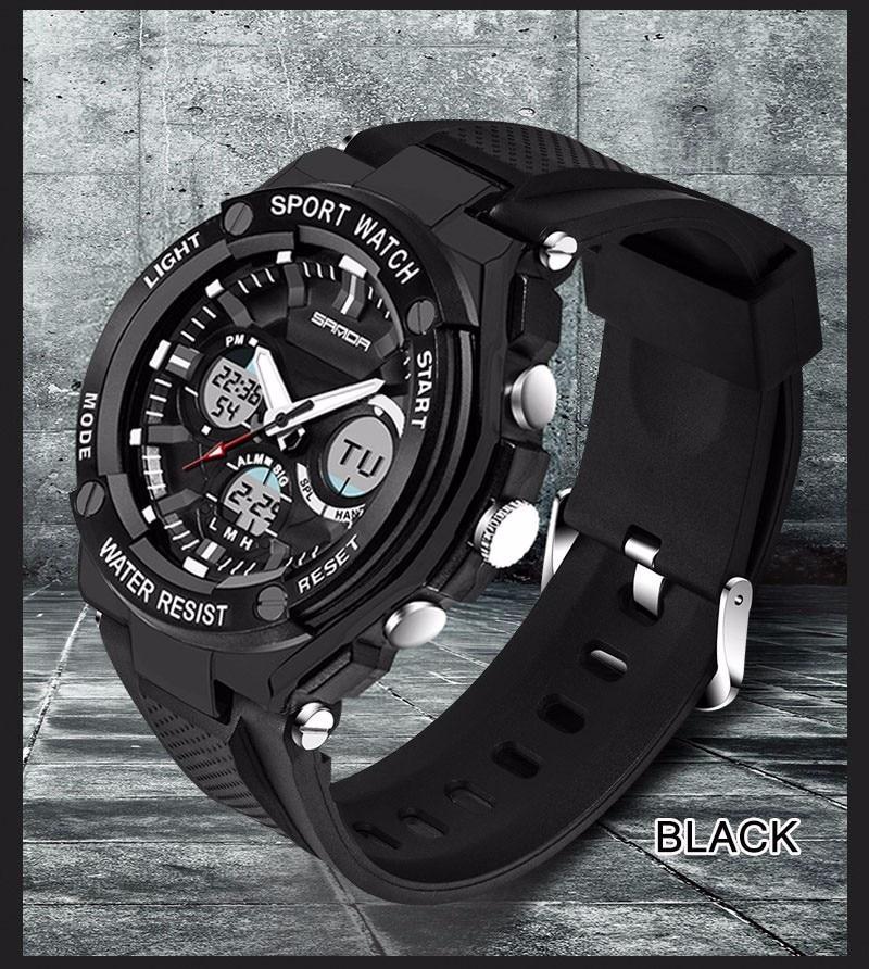 Men Sport Watch Waterproof Top Brand Luxury Military Watch LED Digital Quartz Wristwatch Relogio Masculino Reloj Hombre 2019 733 23
