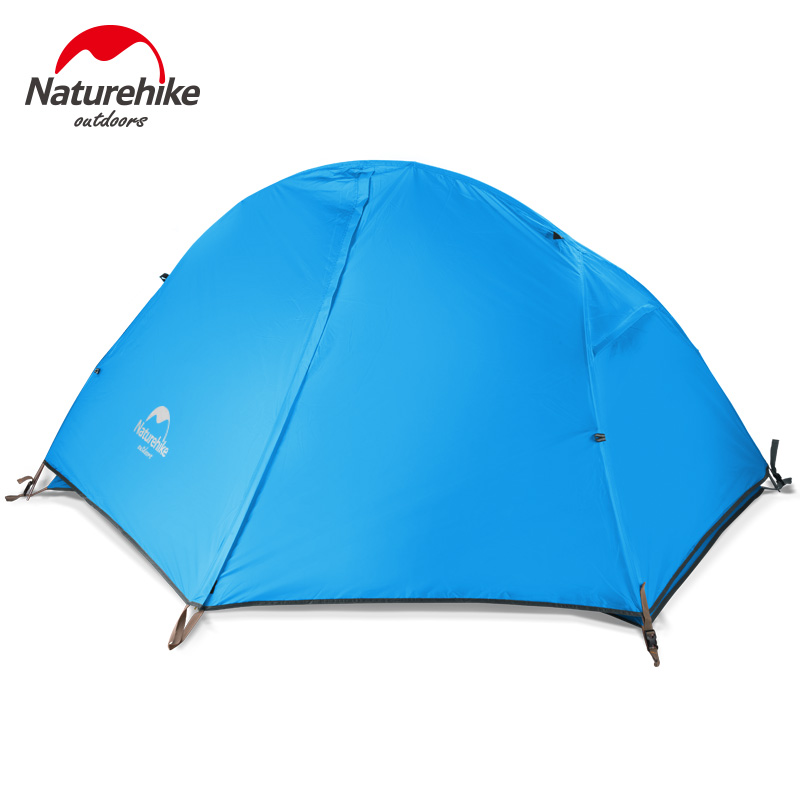 Naturehike Portable Ultralight Outdoor Camping Cycling Double Layers Waterproof 210T 20D Nylon Tents For 1 Person