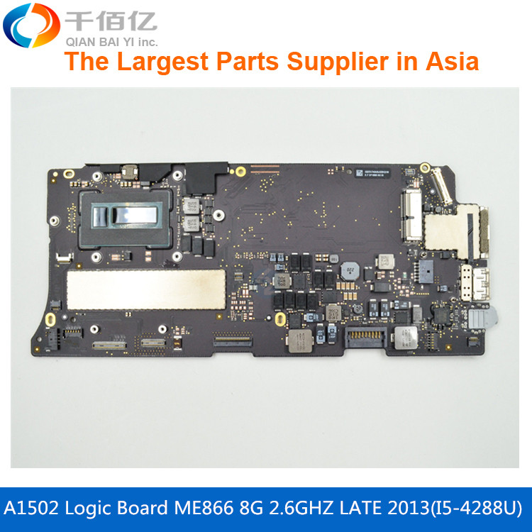 цена Laptop Mother board A1502 Logic board For MacBook Pro Retina 13' ME866 8G 820-3536-A i5-4288U 2.6GHZ