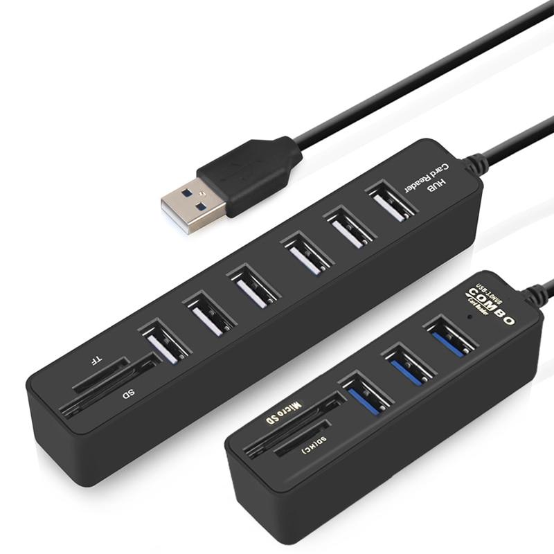 IMice USB HUB 3.0 Multi USB 3.0 HUB Splitter Port 3/6  Multiple USB Hab SD Card Reader High Speed Usb Combo For Computer Laptop