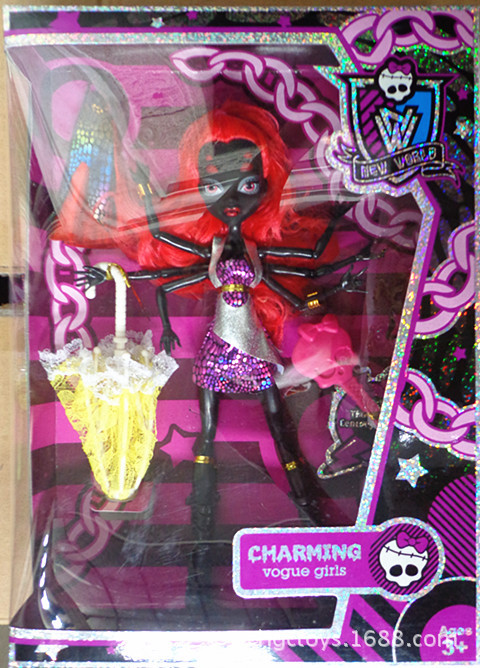 Monster Doll Removable Jonit Black Spider Polyarticular