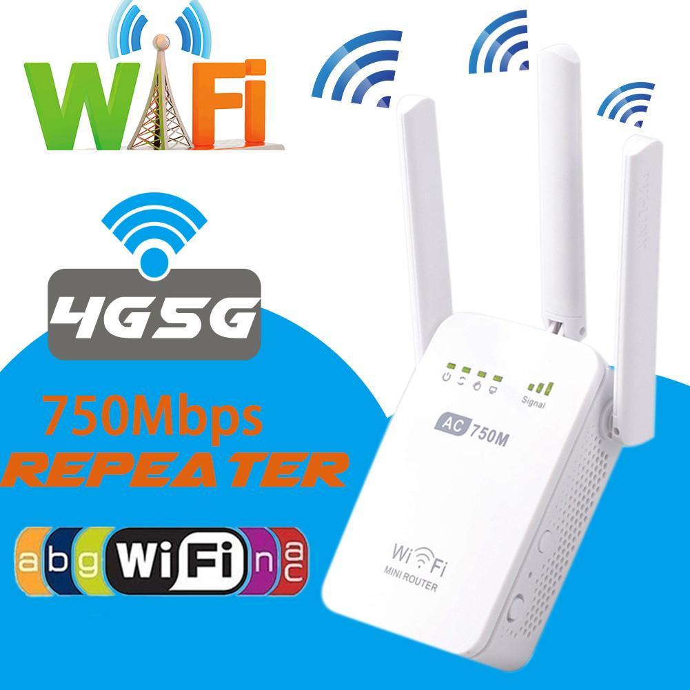 Répéteur d'extension de réseau sans fil double bande 750 M répéteur de Signal WIFI répéteur WIFI