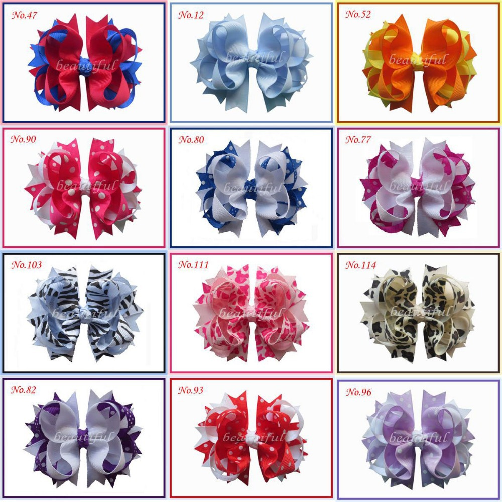 50 BLESSING Good Girl Hair Accessories 4.5 A- Blossom Bow Clip 117 No. lace bow girl elastic hair bands 150pcs ring candy gift children rubber rope ponytail holder box set jewelry hair accessories