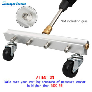 Image 2 - Sooprinse Pressure Washer Water Broom,Surface Cleaner,Power Washer Cleaner,Sweep Floors,1/4 inch Male quick disconnect,4000PSI