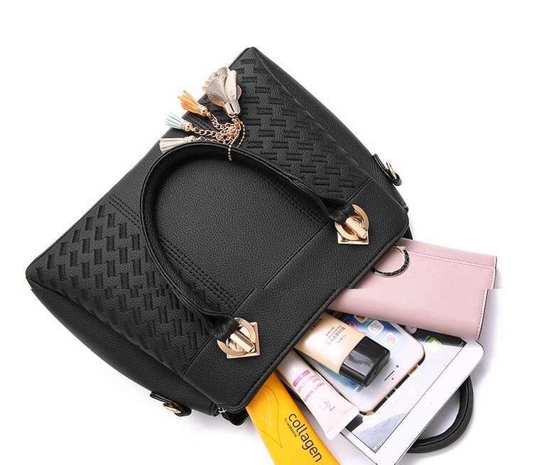 Moda feminina padrão bolsas de couro genuíno sacos para as mulheres 2019 sacos de corrente ombro casual tote feminino messenger bags n258