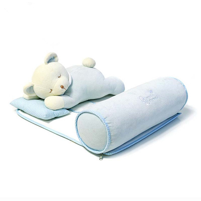 Memória Espuma Travesseiro Do Bebê recém-nascido bebê 0-12Months Urso Dos Desenhos Animados Prevent Flat Head Almofadas Forma Infantil Travesseiro Bebê Apoio de cabeça Anti-enxaqueca