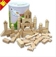 Wooden toys / early childhood building blocks a small mixed batch of infant toys wood forest castle building blocks barrels
