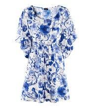 Beach Fashion Vintage Femininas Women Dress Tropical Print Quality Summer Style Vestidos De Festa Brand Summer Dress