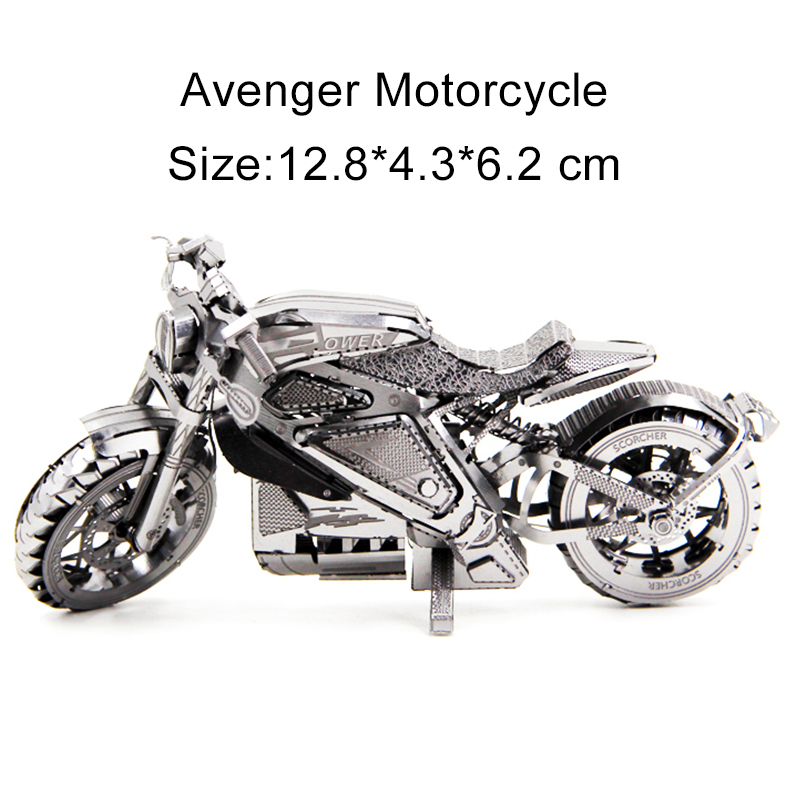 3D Metal Puzzle Avenger Motorcycle/Canon Camera Model Desktop Display Collection For Adult Children's Manual Toys Holidays Gifts