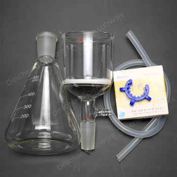 500ml,24/40,Lab Suction Filtration Unit,200ml Buchner Funnel,With Filter Paper