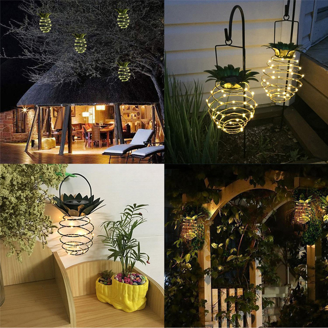 Pineapple LED solar lights 3