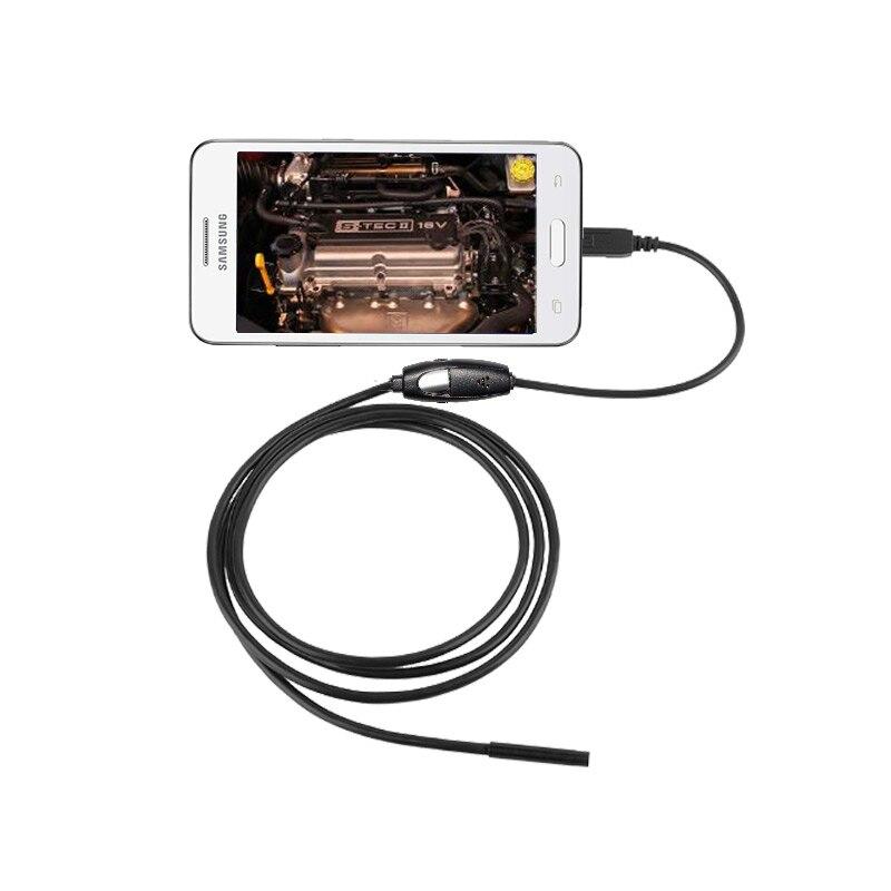 Waterproof 1M font b USB b font Inspection Camera Snake Endoscope 7mm Mini Camera Borescope 6