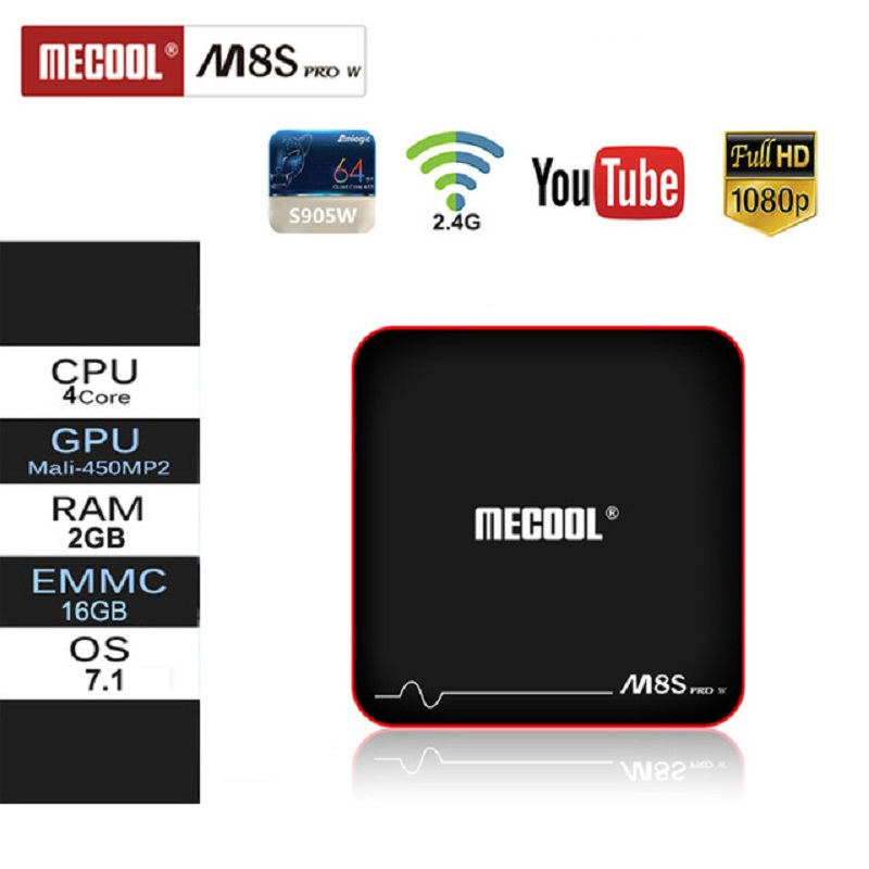 Mecool M8S PRO W Android Box 2.4G Voice Control S905W Android 7.1 4k FullHD Android Set Top Box IPTV Smart TV Box