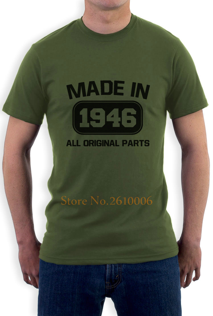 df969d769 Made In 1946 All Original Parts Funny 70th Birthday T Shirt Retirement Gift  Design Short Sleeve Tee Shirt-in T-Shirts from Men's Clothing on  Aliexpress.com ...