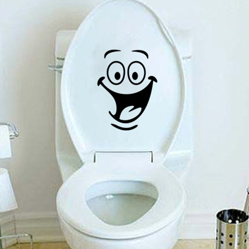 Big mouth smile wc stickers wall decorations diy vinyl for Decoration wc