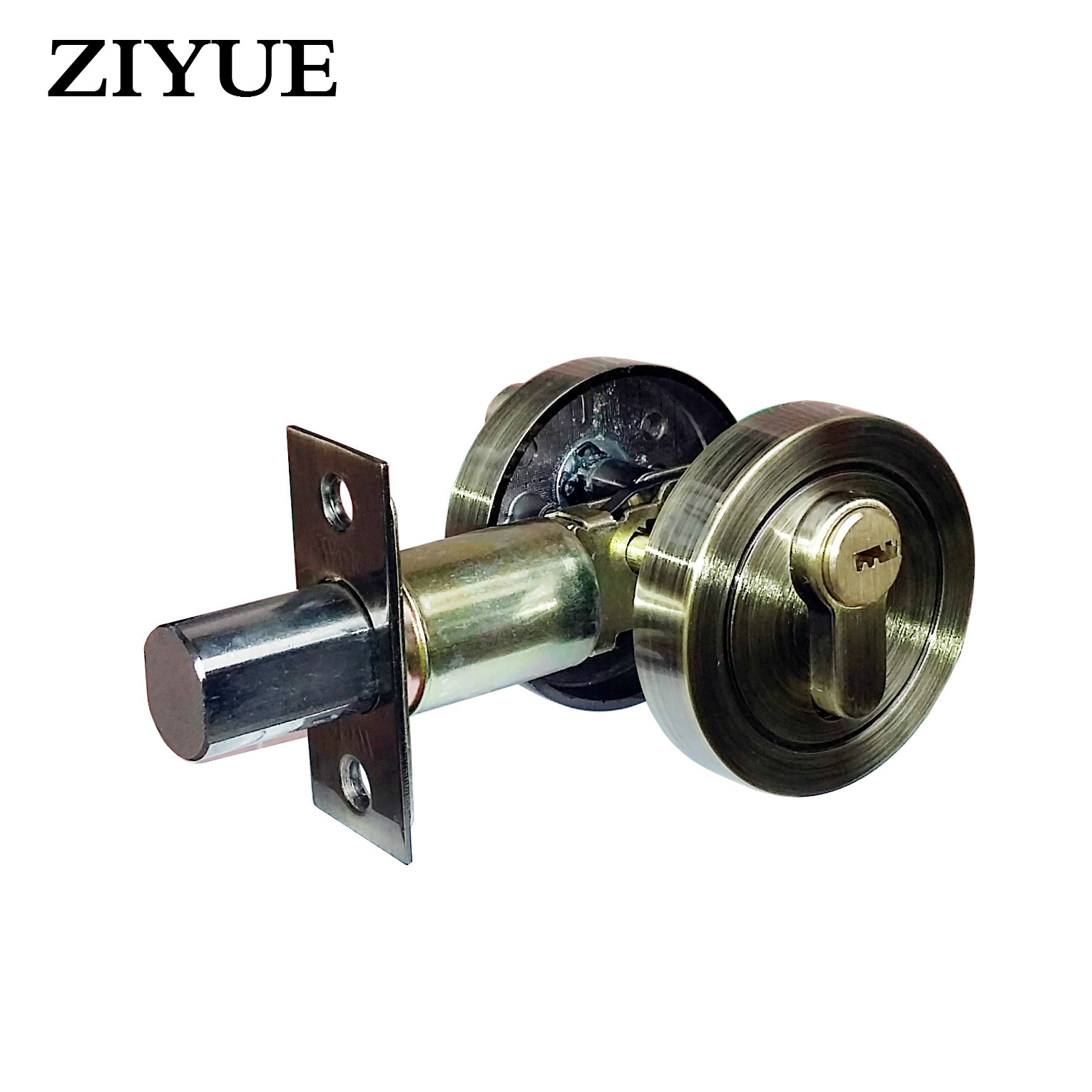 все цены на Free Shipping Zinc Alloy Home house Room Locking Single Head Door Locking Auxiliary Lock онлайн