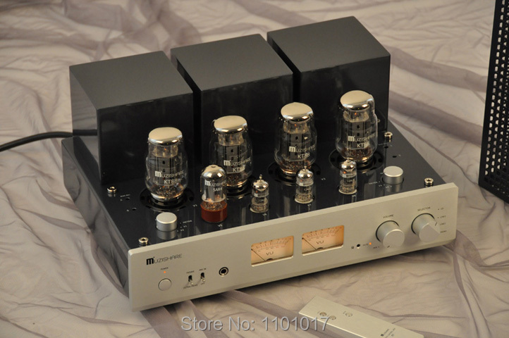 Image 2 - MUZISHARE New X7 KT88 Push Pull tube amplifier HIFI EXQUIS GZ34 Lamp Amp Best Selling With Phono and Remote-in Amplifier from Consumer Electronics