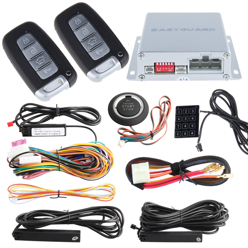 High Security PKE Car Alarm Kit Remote Engine Start Auto