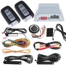 Высокий уровень безопасности ПКЕ комплект автосигнализации дистанционного запуска двигателя, авто центральный замок, кнопка старт/стоп и Сенсорный ввод пароля