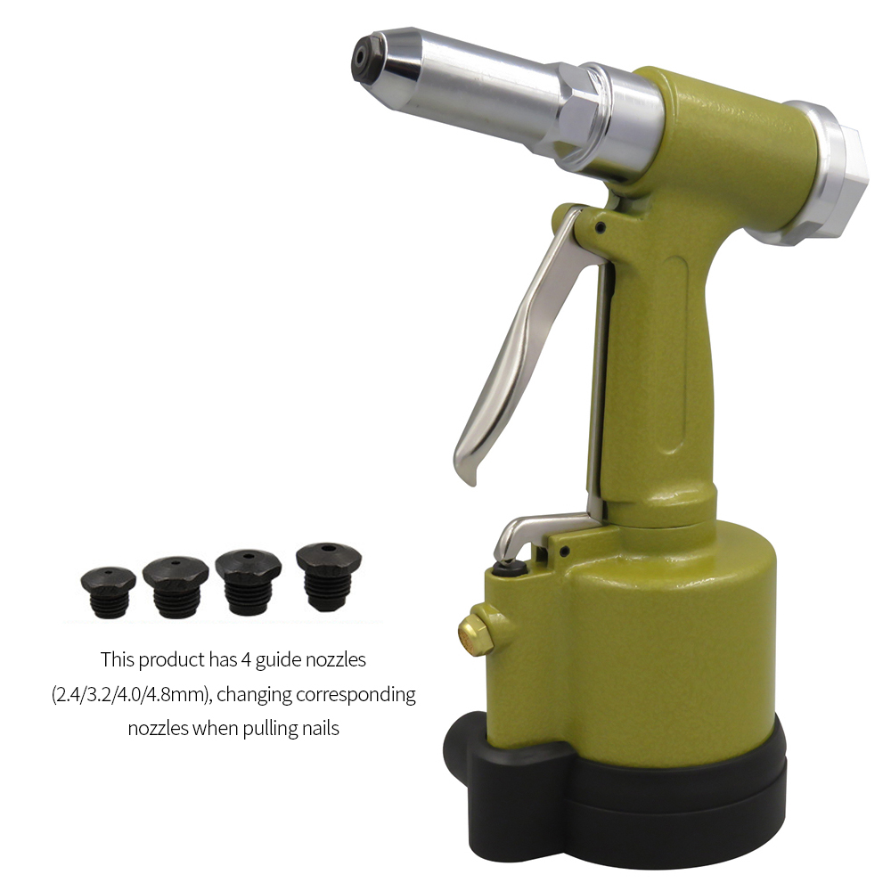 Professional Pneumatic Hydraulic Air Riveter Labor Saving Rivet Riveting Gun Nut Nail Insert Hand Tool With Wrench Set Of Tools