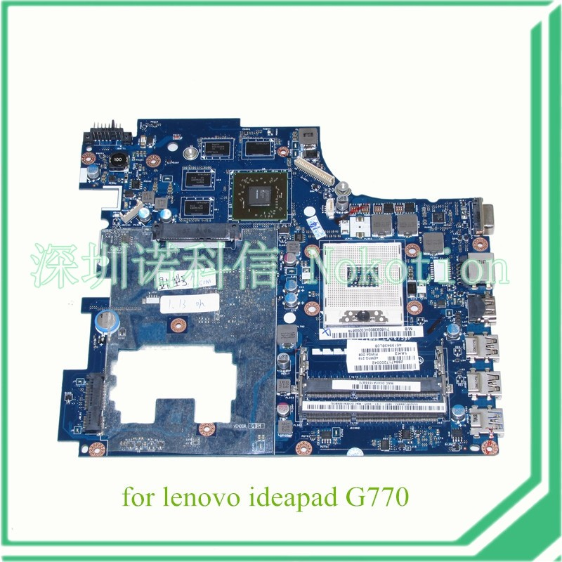 NOKOTION PIWG4 LA-6758P REV 1A For Lenovo ideapad G770 17'' Laptop motherboard HD3000 Radeon HD 6650M 1GB DDR3 with cpu free shipping new piwg4 la 6758p rev 1a mainboard for lenovo y770 g770 motherboard with amd 6650m graphic card