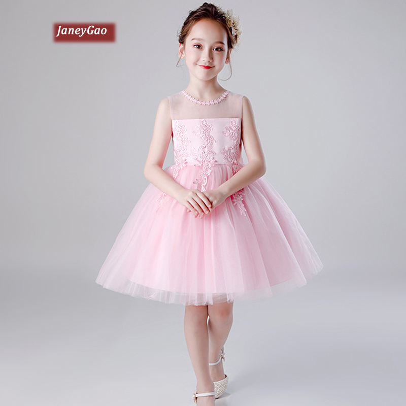 JaneyGao   Flower     Girl     Dresses   For Wedding Party Pageant   Girl   Formal Gown Little   Girl   Birthday Party   Dresses   Pink White Blue 2019
