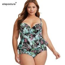 2020 New High Waist Swimsuit Plus Size Swimwear Women Push Up Bathing Suits Vintage Retro Beach Wear Swimming Suit For Women 3XL