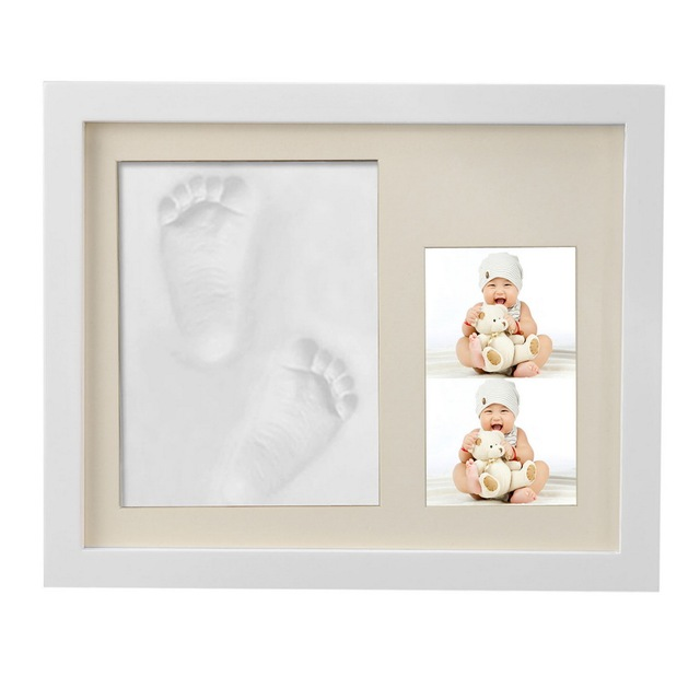 Baby Handprint Footprint Frame Package Mold Kit Baby Gift Keepsakes ...