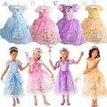 1 unids nuevo 2015 muchachas cenicienta princesa niños del vestido película cosplay, por encargo Fairy Dress cola del vestido de lujo, Fantasia