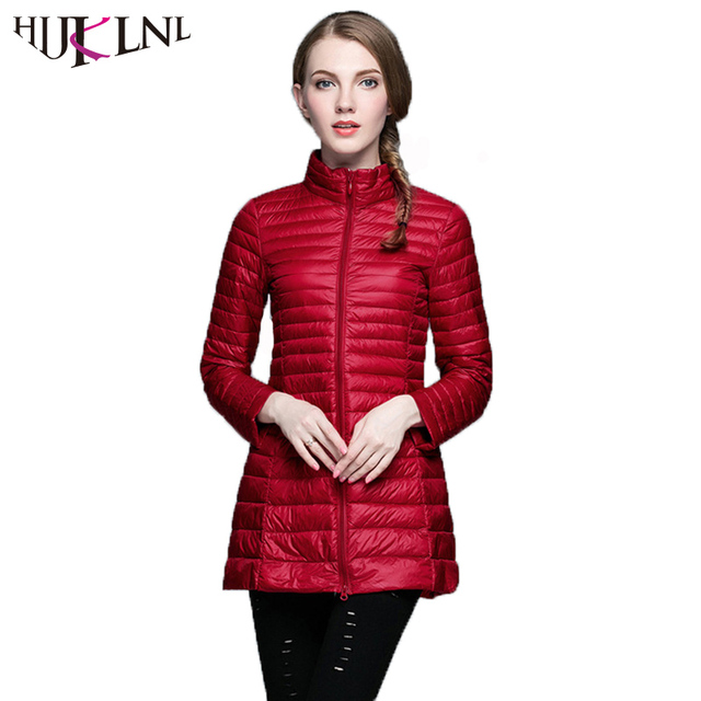 39b03ef608a HIJKLNL Plus Size 4xl camperas mujer abrigo Women Winter Long Ultra Light  Down Jacket Coat Female Duck Down Jacket Parka NA221