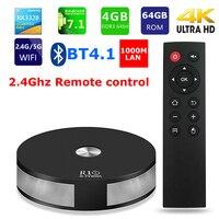 R10 Smart TV Box RK3328 Quad core 4GB Ram 64GB Rom Android 7.1 Bluetooth 4.1 2.4G/5G Dual WIFI 1000M Lan 4K HDR10 Media Player