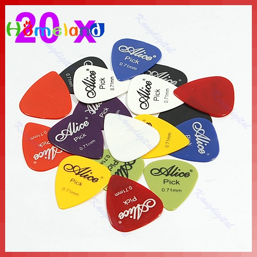 0.71mm Smooth Nylon Guitar Picks Pick Plectrum 20pcs/lot Jul17_25