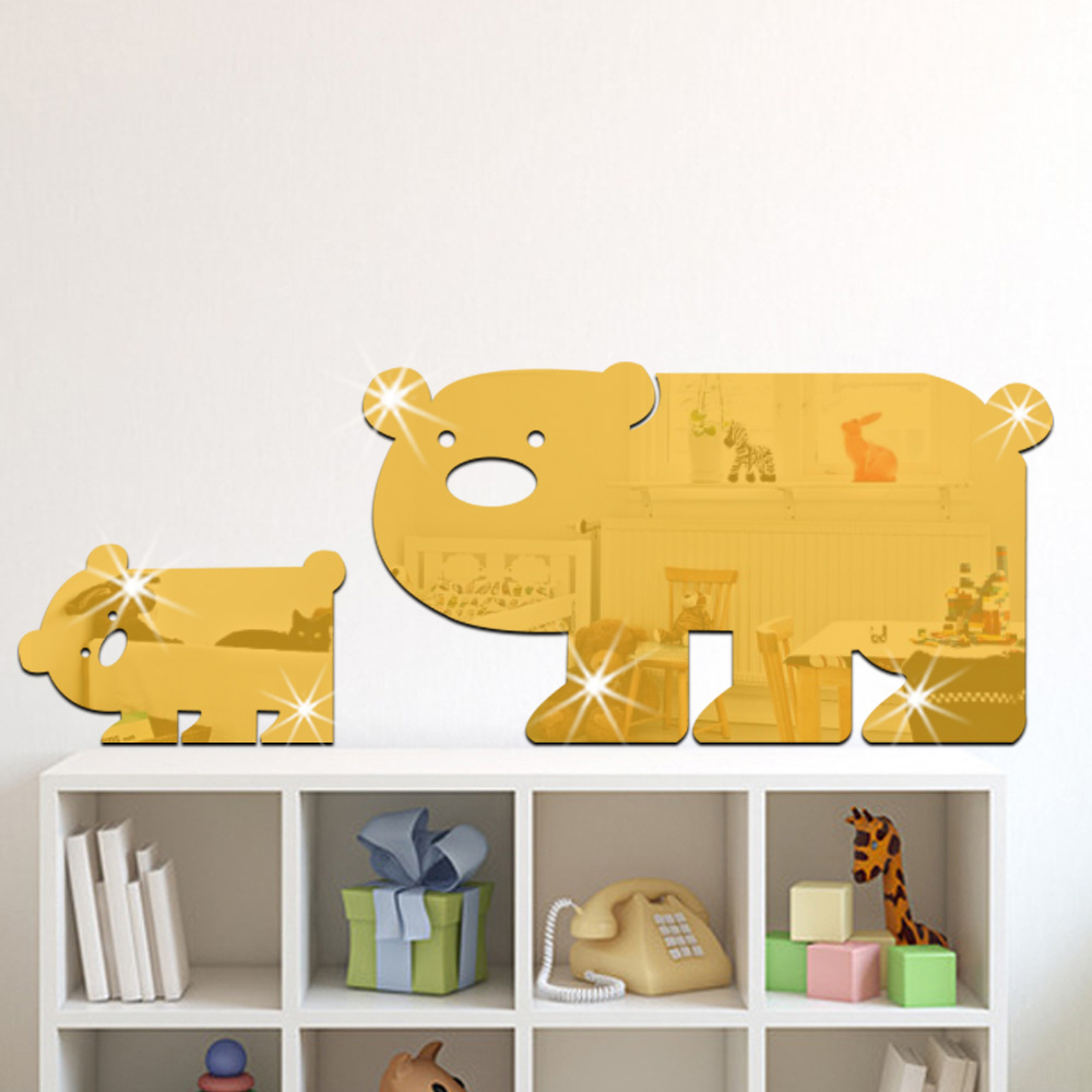 DIY Acrylic Animal Wall Sticker Pig Mural Poster Art Mirror 3d Wall ...