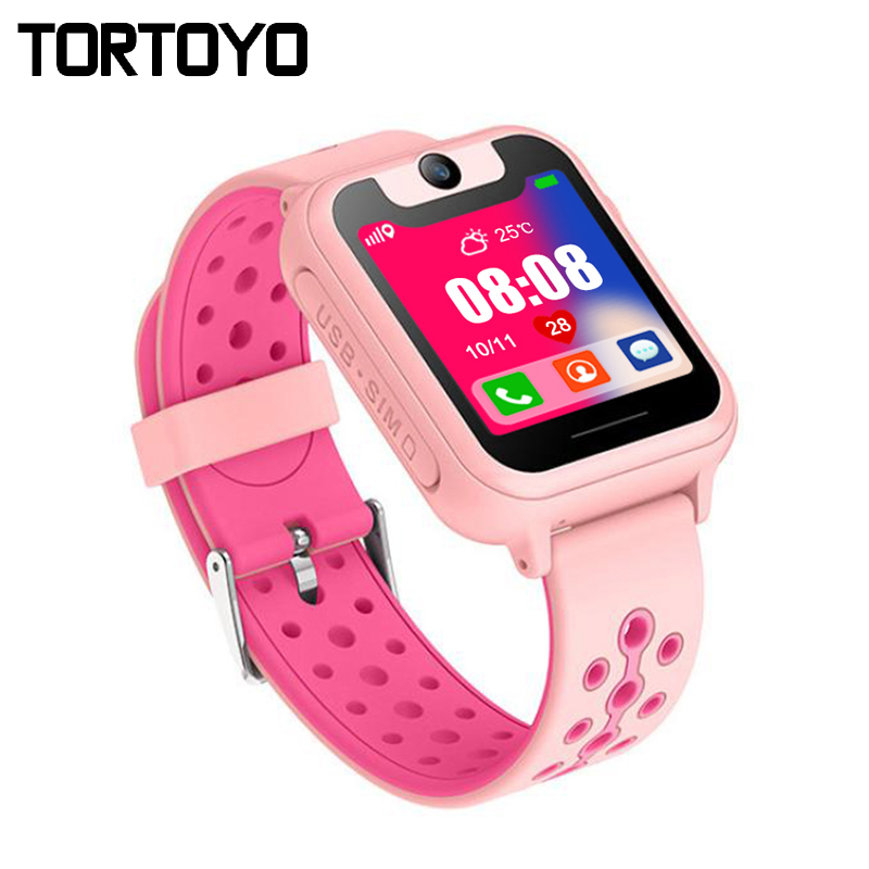 TORTOYO S6 Kid Smart Watch Phone LBS Positioning with Touch Screen Camera Flashlight SOS Call Voice Chat Anti-lost Reminder Gift