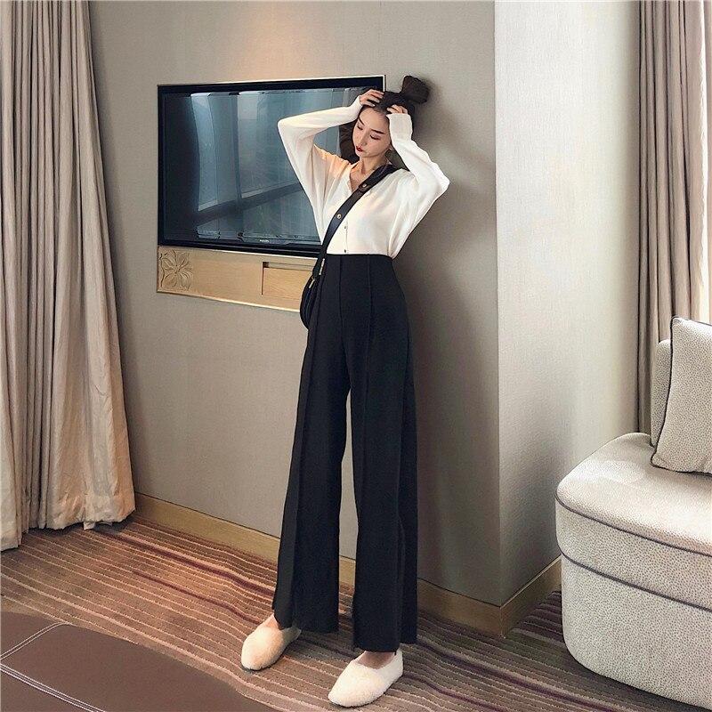 Women's Pants Elegant Style Plaid Pants for Women Autumn Casual Loose Elastic Waist Trousers Harajuku Female Ankle-Length ZT1954 4