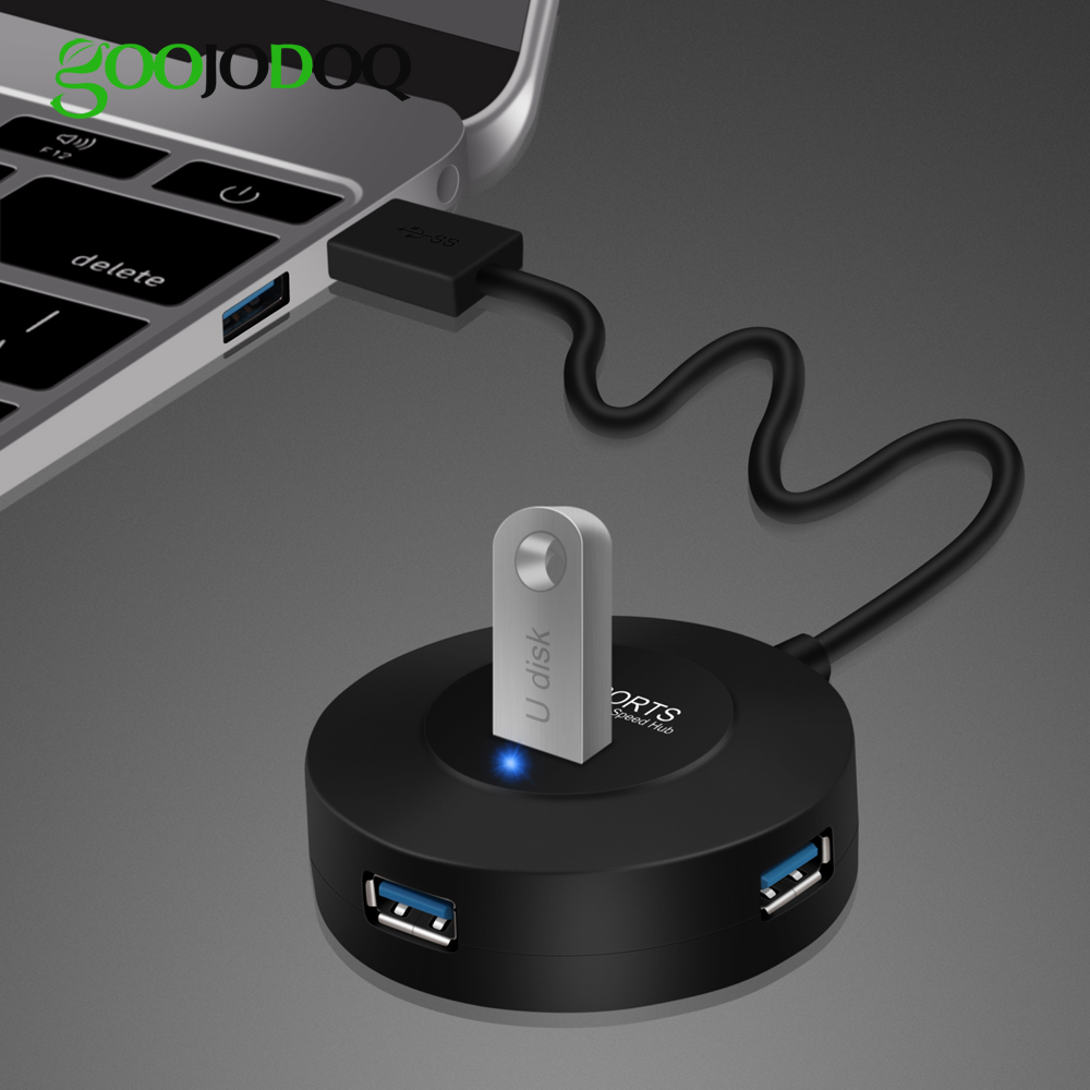 CHUN-Accessory 4-Port Super Speed Powered USB Hub Splitter with independent Switch LED light for Laptops Top Deals USB 3.0 Hub Ultrabooks a