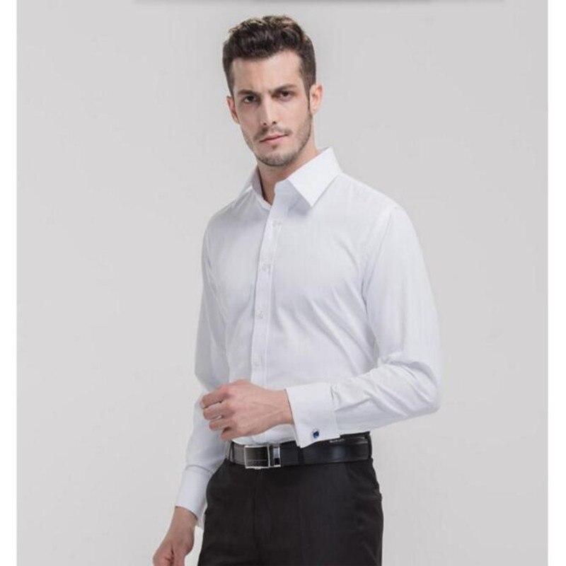 fashion men shirt custom made men wedding shirt groomsman white good quality formal business long shirt