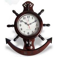 Немой деревянные настенные часы с маятником китайский парусный спорт стиль старинные деревянные движение кварцевые часы