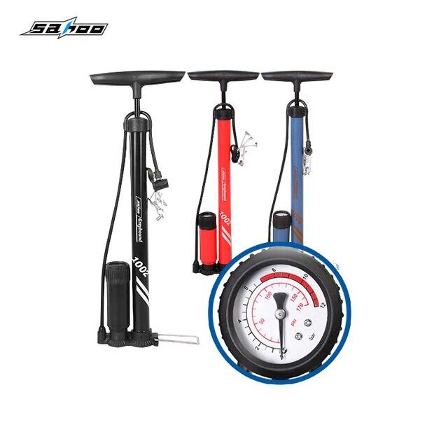 SAHOO воздушный насос для велосипеда, велосипедный насос для шин, напольный тип, велосипедный насос для езды на велосипеде, насос высокого давления, оборудование для верховой езды