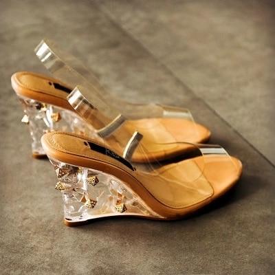Nuevos Rhinestone Tacones Boca Unidos De Zapatos Salvaje Verano Y BwxAqMPZH