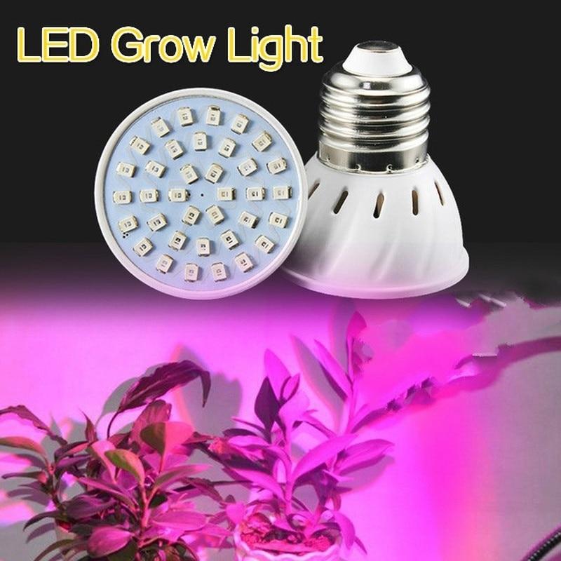 E27 72LED  Hydroponic Flower Veg Growing Lamp Bulb  3W Plant Grow Light Chimeneas