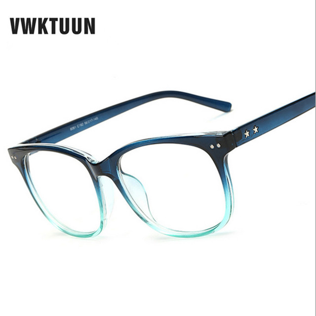 77054dc041 VWKTUUN Optical Eye Glasses Myopia Frames Women Men Plain Mirror Glass  Colorful Frame oculos Gafas de sol Wholesale Eyewear